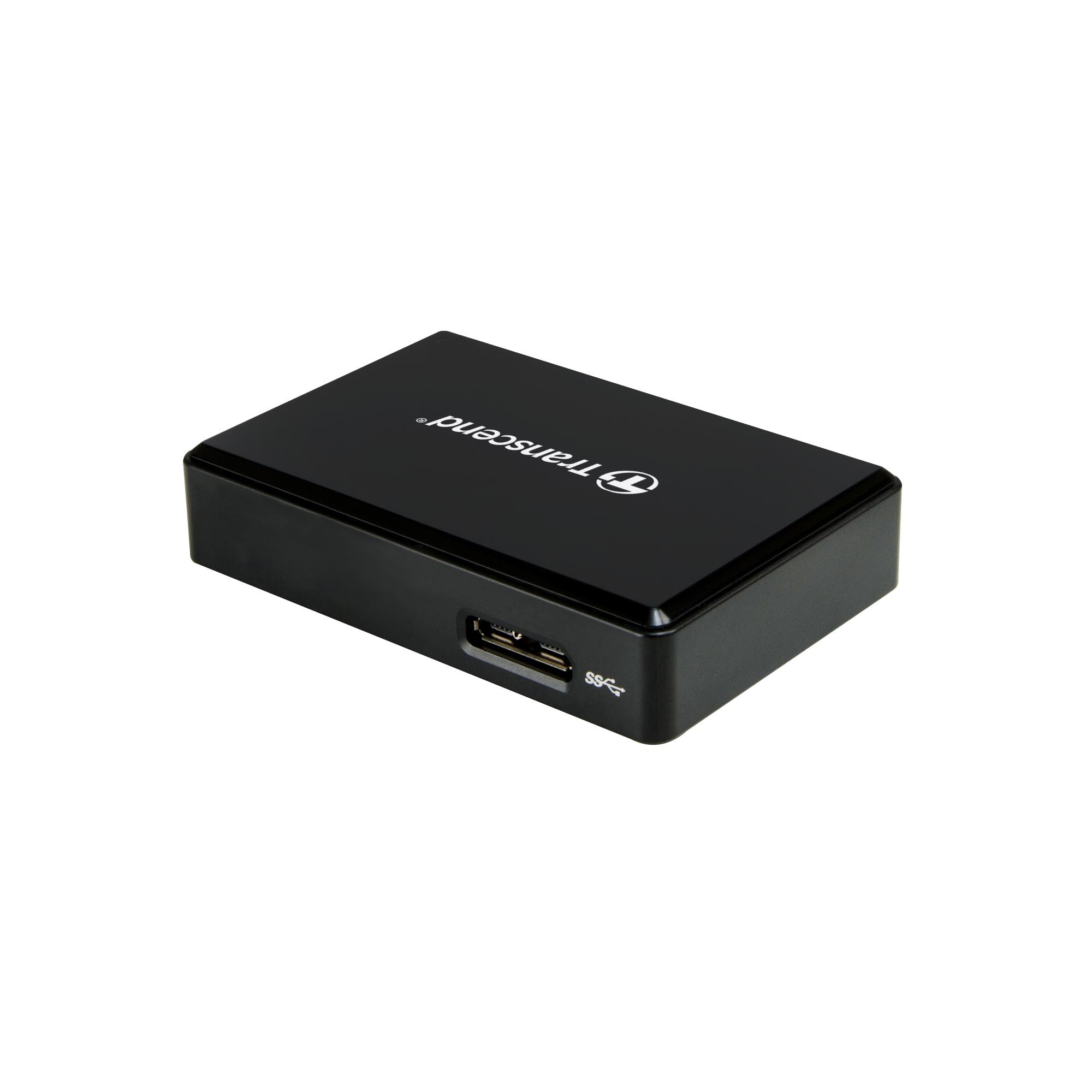 TRANSCEND Gen1 All-in-1 UHS-II Multi Card Reader RDF9K2, USB 3.1, Black