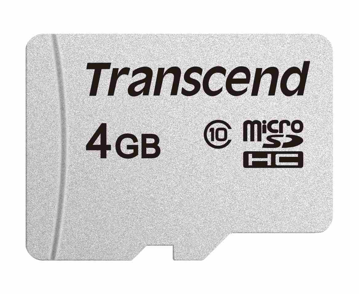TRANSCEND Micro SDHC Class 10 300S 4GB, bez adaptéru