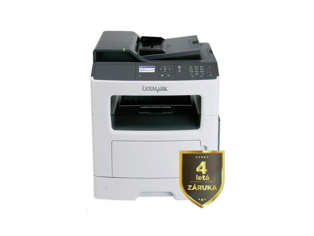 LEXMARK Multifunkční ČB tiskárna MX317dn, A4, 33ppm, 256MB, barevný LCD displej, duplex, ADF, USB 2.0, LAN, 4letá záruka (35SC745)
