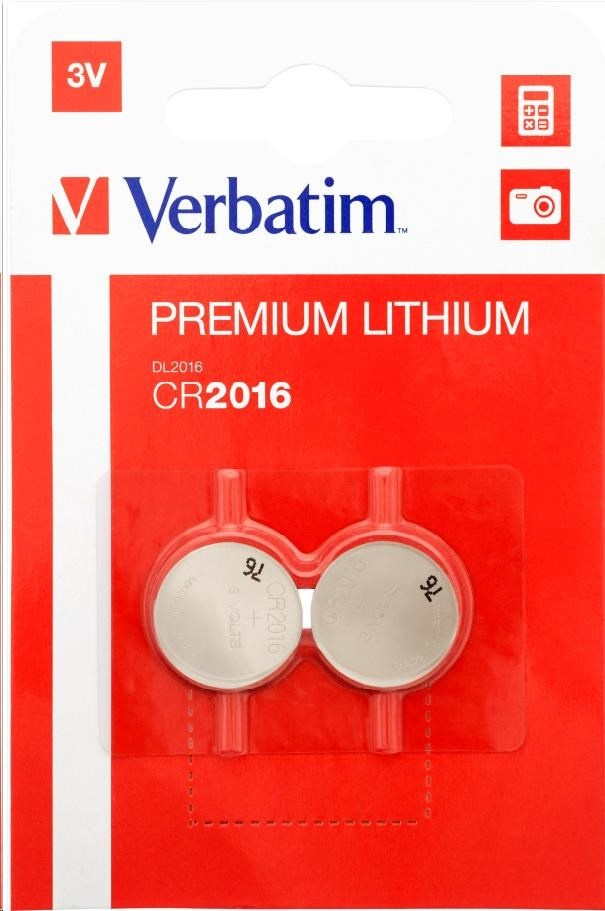 VERBATIM Lithium baterie CR2016 3V 2 Pack