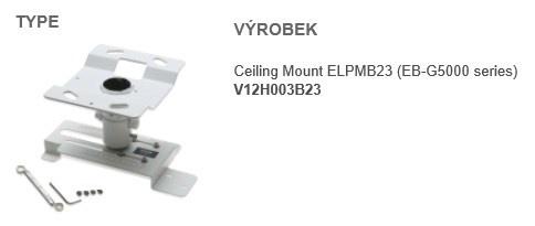 EPSON Ceiling Mount ELPMB23 pro EB-19xx,17xx,8x,8xx,EB-Sx,EB-Xx,EB-Wx Ceiling Kit  - stropní držák projektoru
