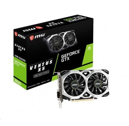 MSI VGA NVIDIA GeForce GTX 1650 VENTUS XS D6 4G OC, 4GB GDDR6, 1xDP, 1x HDMI, 1xDVI