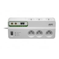 APC Home/Office SurgeArrest 6 Outlets with Phone & Coax Protection 230V France, 3m