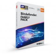 Bitdefender Family pack - 15 zařízení na 3 roky- elektronická licence do emailu