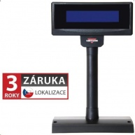 Virtuos zákaznický display FL-2024LB, 2x20 znaků 9mm, USB, 5V, černý
