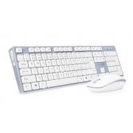 CONNECT IT Combo bezdrátová šedá klávesnice + myš, CZ + SK layout