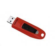 SanDisk Flash Disk 64GB Ultra, USB 3.0, červená