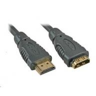 PREMIUMCORD Kabel prodlužovací HDMI - HDMI 10m, zlacené konektory