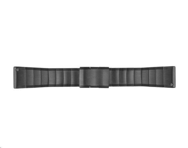 Garmin řemínek pro fenix5S - QuickFit 26, ocelový, šedý