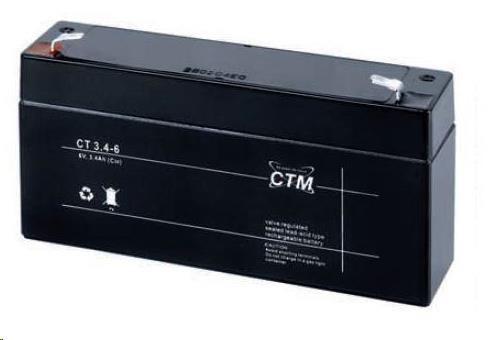 Baterie - CTM CT 6-3,4 (6V/3,4Ah - Faston 187)