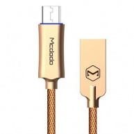 Mcdodo Knight Series Auto Disconnect Micro USB Data Cable with Quick Charge 1m Gold