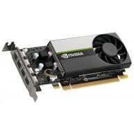 NVIDIA T1000 4GB GDDR6, 4x miniDisplayPort 1.4, 2x adapter mDP->DP, PCIe 16x