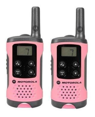 Motorola vysílačka TLKR T41 (2 ks, dosah až 4 km), růžová
