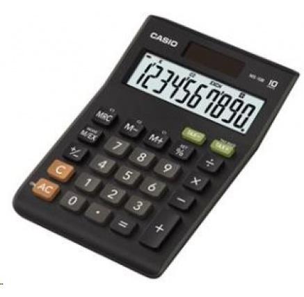 CASIO kalkulačka MS 10 B S, černá, stolní, desetimístná