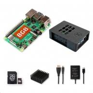Raspberry Sada Zonepi Pi 4B/8GB, (SDXC karta 64GB + adaptér, Pi4 Model B, krabička, chladič, HDMI kabel, napájecí zdroj)