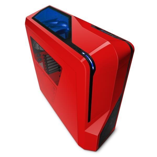 NZXT skříň Phantom 410/MidTower/bez zdroje/USB3.0+USB2.0/ATX/červená