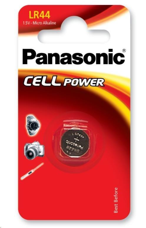 PANASONIC Mikro baterie - alkalické  LR-44EL/1B  1,5V 1ks
