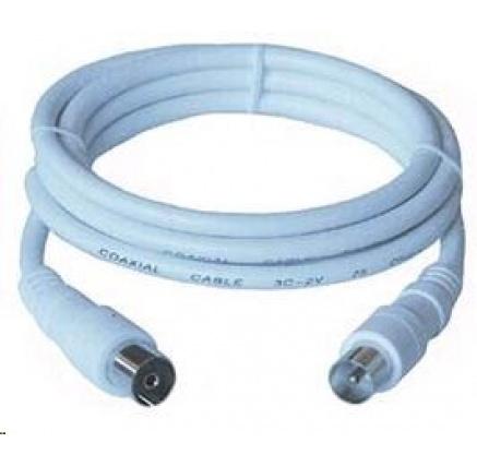 PREMIUMCORD TV kabel anténní propojovací 10m (koaxiální, M/F, 75 Ohm)