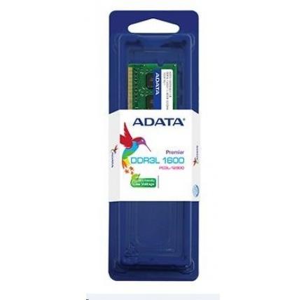 SODIMM DDR3L 8GB 1600MHz CL11 ADATA, Premier memory, 512x8, Retail