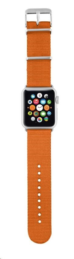 TRUST náramek Nylon wrist band for Apple watch 42mm, orange