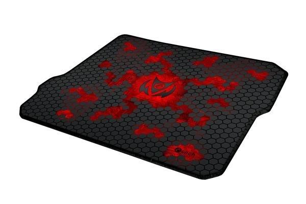 C-TECH herní podložka pod myš ANTHEA CYBER RED, 320x270x4mm, obšité okraje