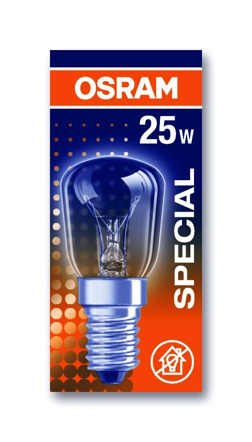 OSRAM vláknová žárovka do ledničky   230V 25W  E14 noDIM E Sklo čiré 160lm 2700K 1000h (krabička 1ks)