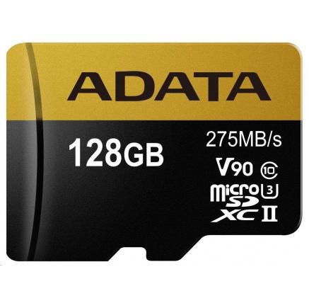 ADATA MicroSDXC karta 128GB UHS-II U3 (R:275 MB/s)