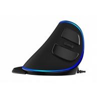 SPIRE myš PL, optická, vertikální, černá, USB, drátová
