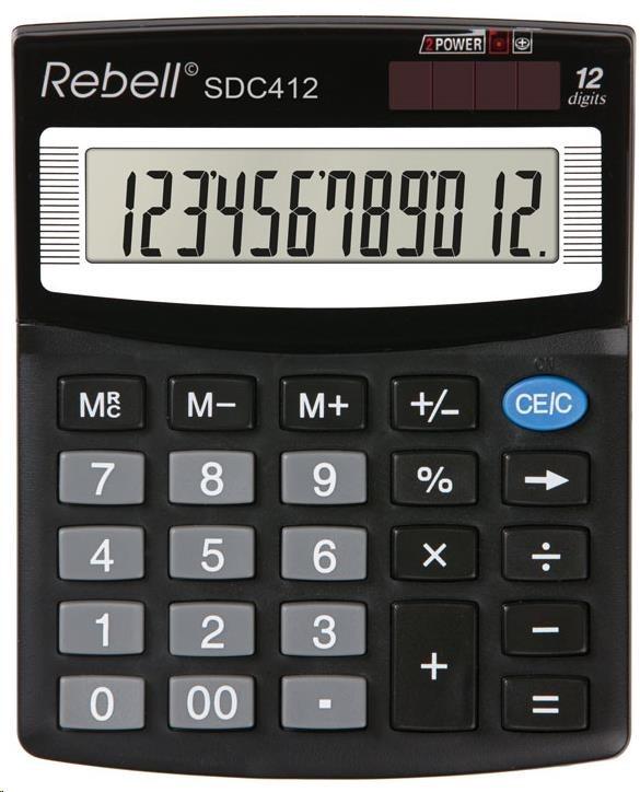 REBELL kalkulačka - SDC412 - černá