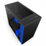 NZXT skříň H400i / mini-ITX / MidTower / průhledná bočnice / 2x USB 3.0 / černo/modrá