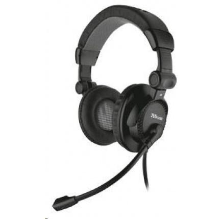 TRUST Sluchátka s mikrofonem Como Headset