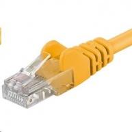 PREMIUMCORD Patch kabel UTP RJ45-RJ45 CAT5e 0.5m žlutá