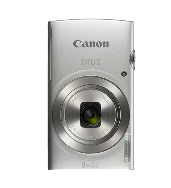 Canon IXUS 185, 20MPix, 8x zoom - stříbrný Essential Kit