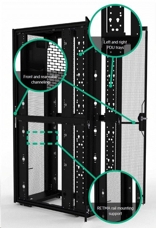 HPE 42U 800mmx1200mm G2 Enterprise Shock Network Rack