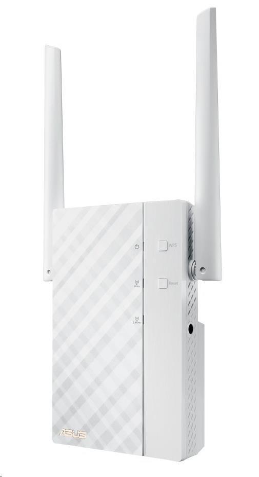 ASUS RP-AC56 Wireless AC1200 Dualband Range Extender, AP/repeater přímo do zásuvky, 1x gigabit RJ45