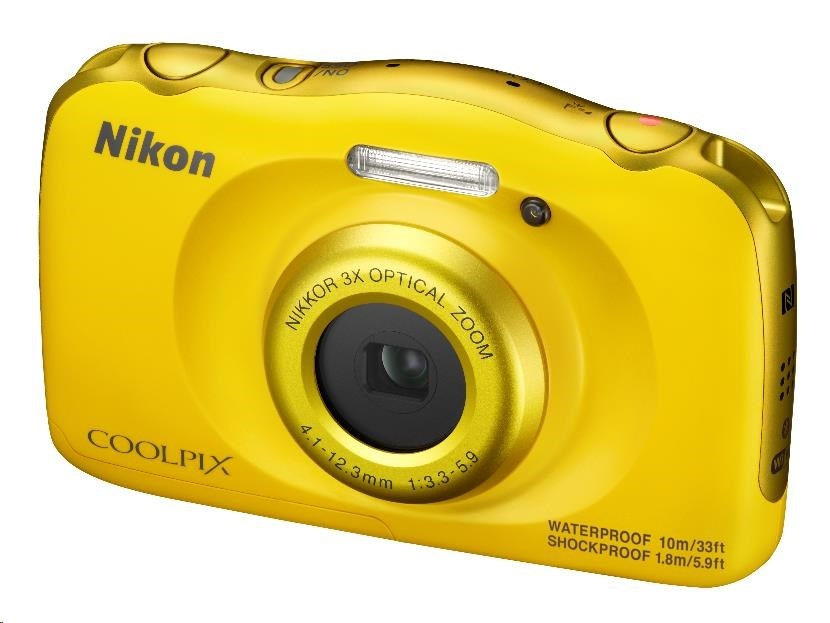 NIKON kompakt Coolpix W100, 13MPix, 3x zoom - žlutý - Backpack kit
