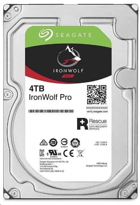 SEAGATE HDD IRONWOLF PRO (NAS) 4TB SATAIII/600, 7200rpm, 128MB cache