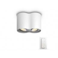 PHILIPS Pillar Dvojité bodové svítidlo, Hue White ambiance, 230V, 2x5.5W GU10, Bílá