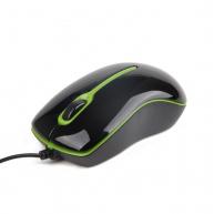 GEMBIRD myš MUS-004G optická, USB, černozelená
