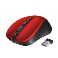 TRUST myš Mydo Silent Click Wireless Mouse - red