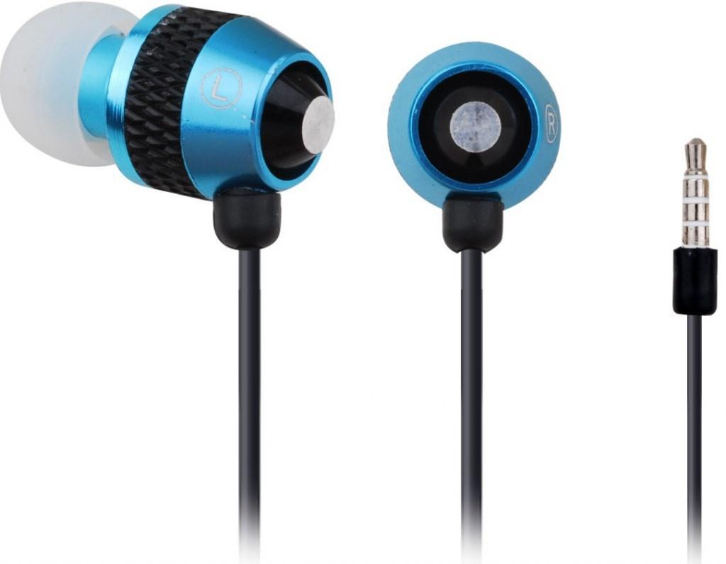 GEMBIRD sluchátka s mikrofonem MHS-EP-002 pro MP3, kovová, Black