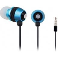 GEMBIRD sluchátka s mikrofonem MHS-EP-002 pro MP3, kovová, modrá