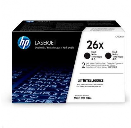 HP 26X 2-pack High Yield Black Original LaserJet Toner Cartridges (CF226XD)