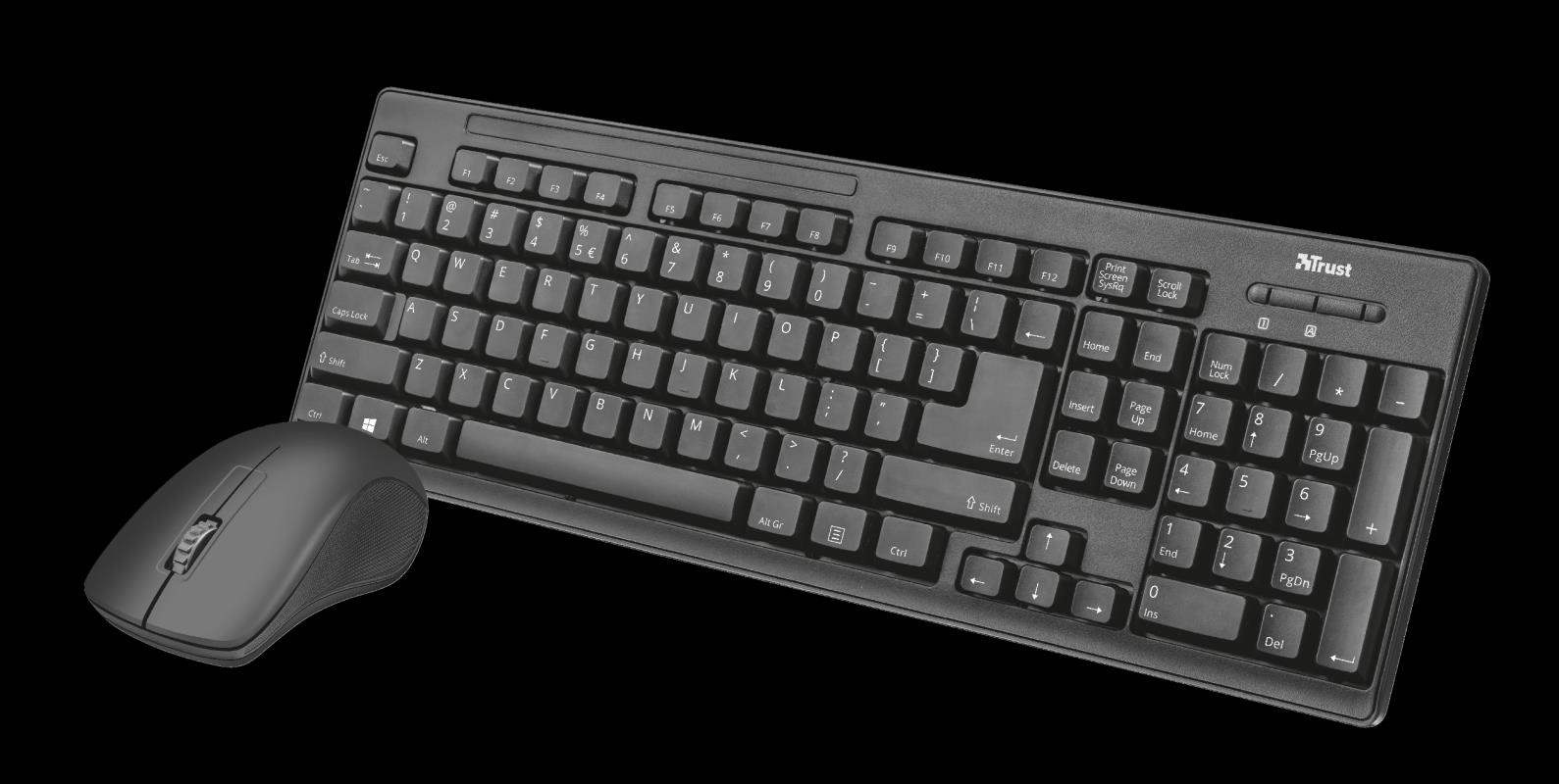 TRUST Myš Trust Ziva wireless keyboard and mouse CZ & SK