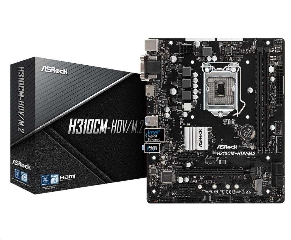 ASRock MB Sc LGA1151 H310CM-HDV/M.2, Intel H310, 2xDDR4, VGA, micro-ATX