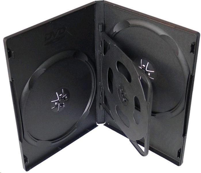 OEM Krabička na 4 DVD černá