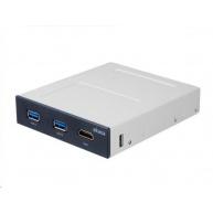 """AKASA přední panel pro VR do 3.5"""", 2x USB 3.0, HDMI, interní"""