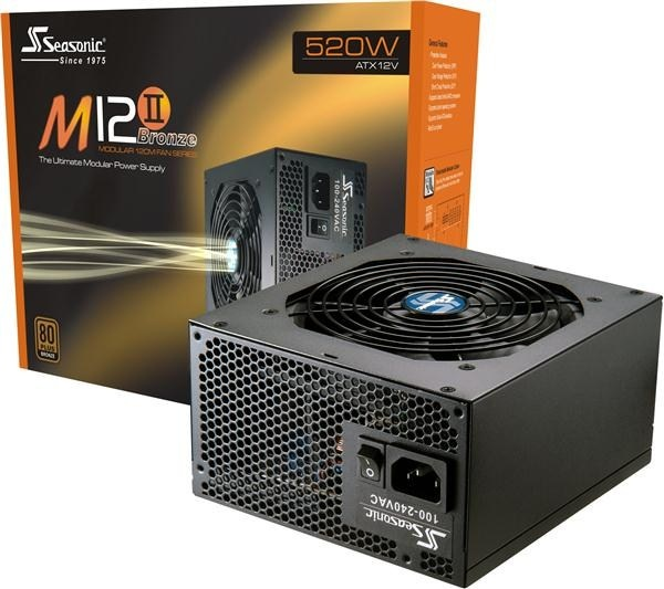SEASONIC zdroj 520W M12II-520W (SS-520GM F3), 80+ Bronze, RETAIL
