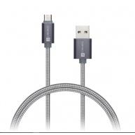 CONNECT IT Wirez Premium Metallic micro USB - USB, silver gray, 1m