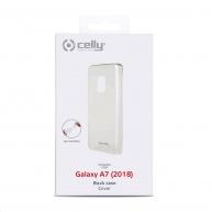 Celly zadní kryt Gelskin pro Samsung Galaxy A7 2018, transparentní